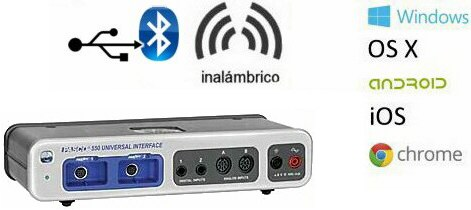 Interfase 550 compatible con sensores ScienceWorkshop y PasPort UI-5001